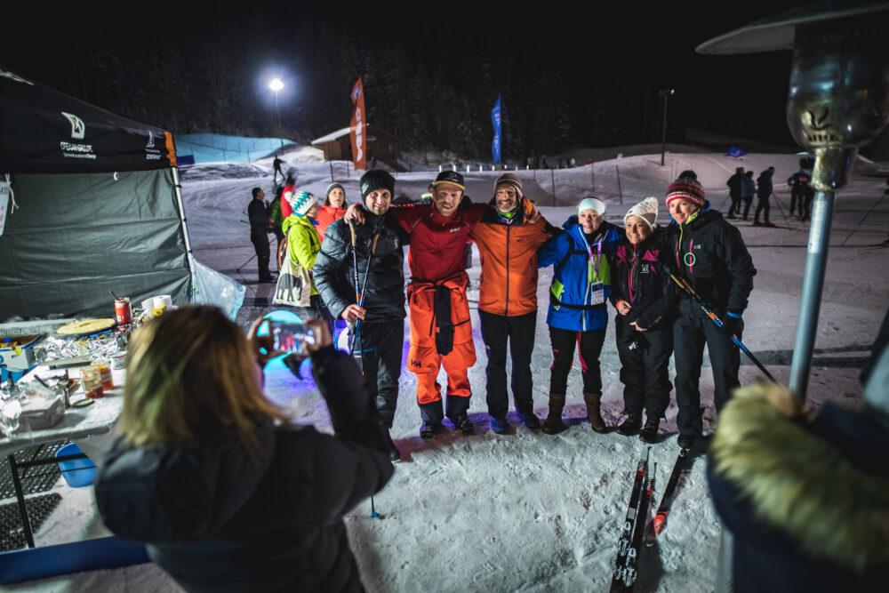 Nordic Happy Hour initiations ski de fond et biathlon nocturne Haute avoie Nordic NHH